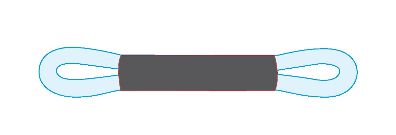 Fourreaux élingue ronde 2 brins